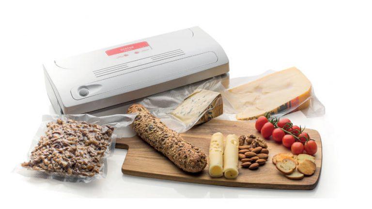Vakuumski aparat FV500 deska za rezanje živil, kruh, zavakuumiran sir in paradižnik