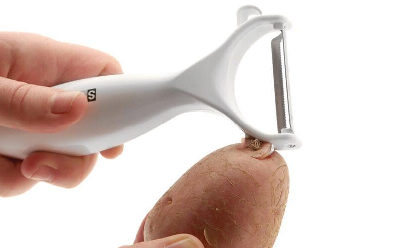 Status lupilnik krompirja: prikaz odstranjevanja očes krompirja s posebnimi zavihki