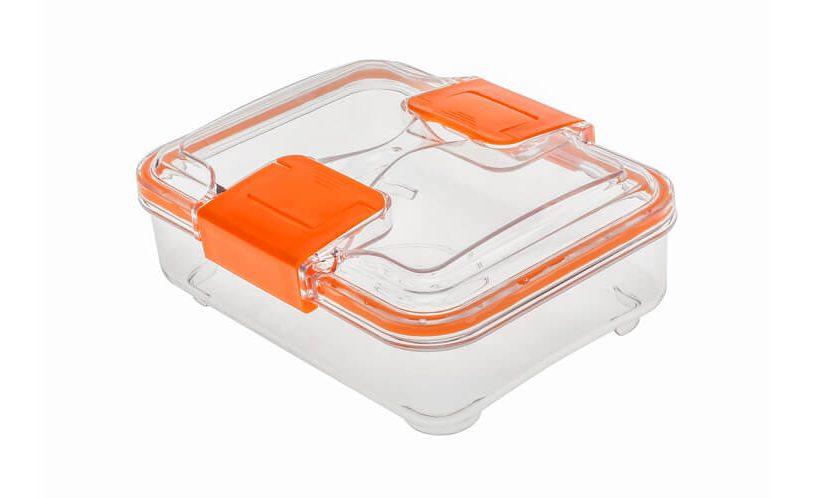 Statusova posoda za shranjevanje volumna 0,75 l v oranžni različici.