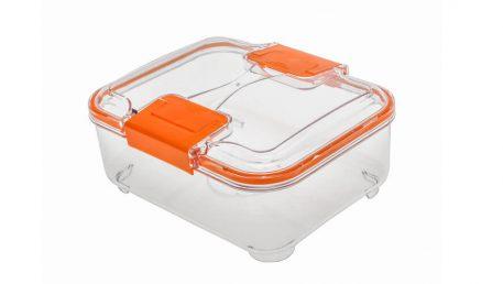 Posoda za shranjevanje iz Statusa volumna 1,5 litra v oranžni barvi.