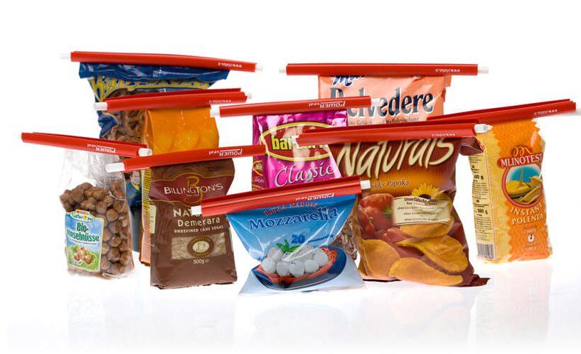 sponke za vrečke na živilih v originalni embalaži
