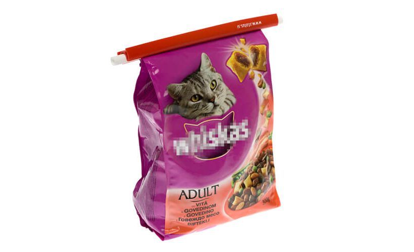 Hrana za mačke, zaprta z zapiralom Power Seal.
