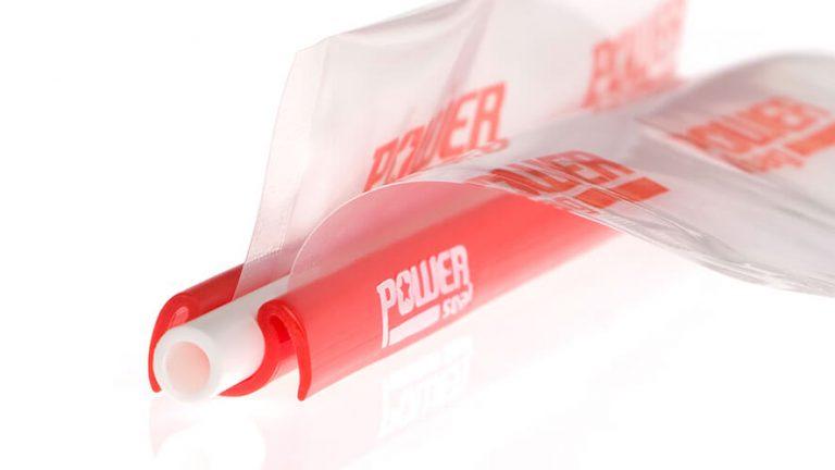 Prikaz vrečke, zaprte z zapiralom Power Seal