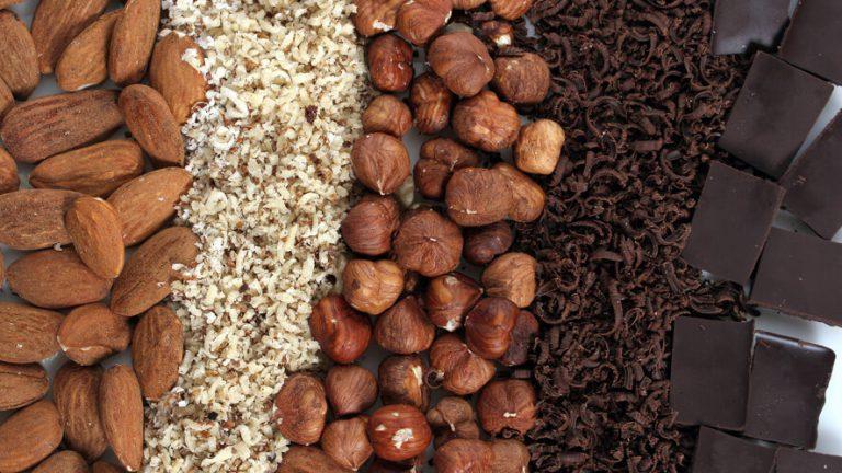 naribani oreščki in čokolada