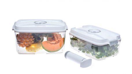 plastične posode na vakuum za zaščito živil