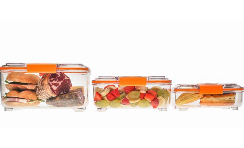 Lock posode iz Status v 3-delnem setu nižjih posod z živili