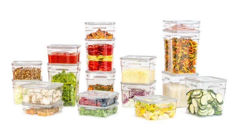 gastro vakuumske posode različnih volumnov z živili