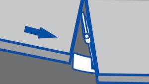 skica namestitve spojke pod ploščico