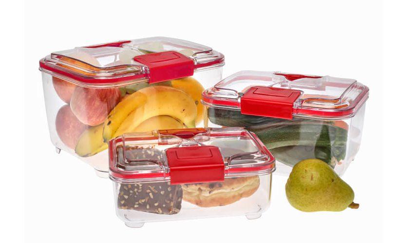 razna živila, shranjena v lock posodah Status volumnov 1 l, 2 l in 4 l.