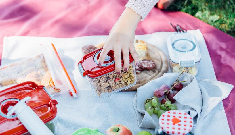 piknik v naravi statusove vakuumske posode