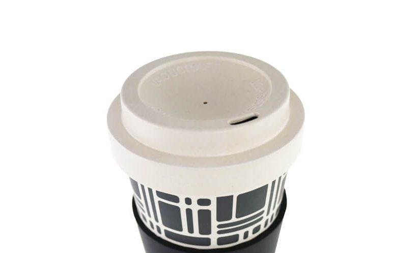 pokrovček bambusov lonček za čaj in kavo