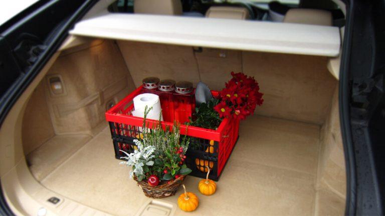 Statusov zložljivi zaboj v prtljažniku avtomobila