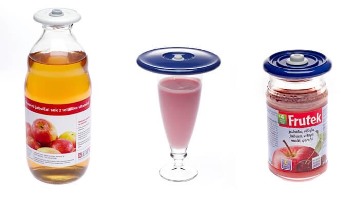 Zaprite steklenico ali kozarec - izberite primerno dimenzijo pokrova.